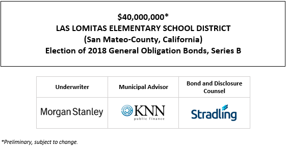 $40,000,000* LAS LOMITAS ELEMENTARY SCHOOL DISTRICT (San Mateo-County, California) Election of 2018 General Obligation Bonds, Series B POS POSTED 4-27-21